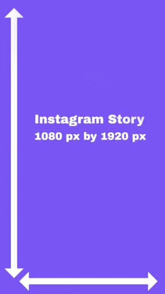 dimensão stories instagram