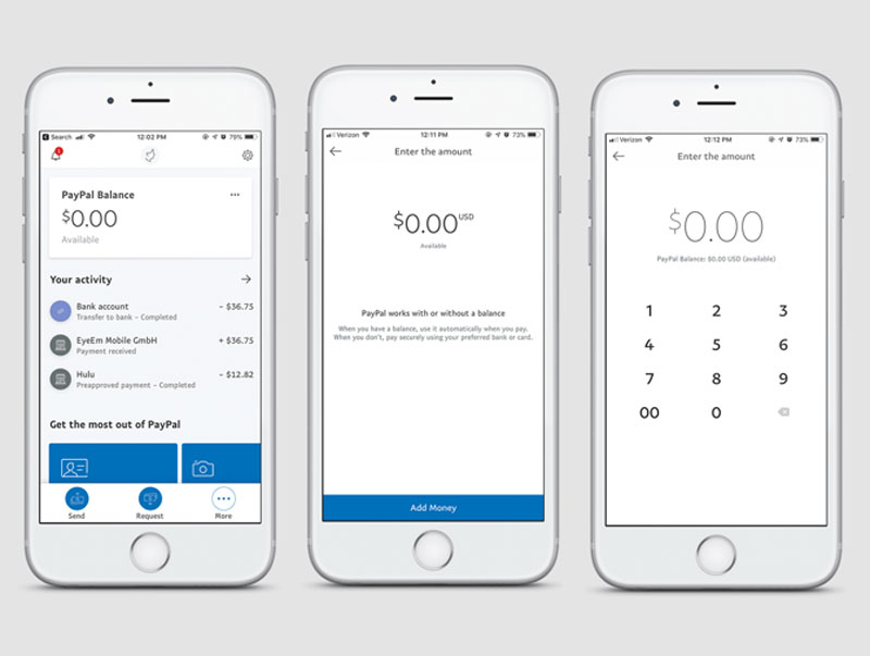 user experience exemplos paypal