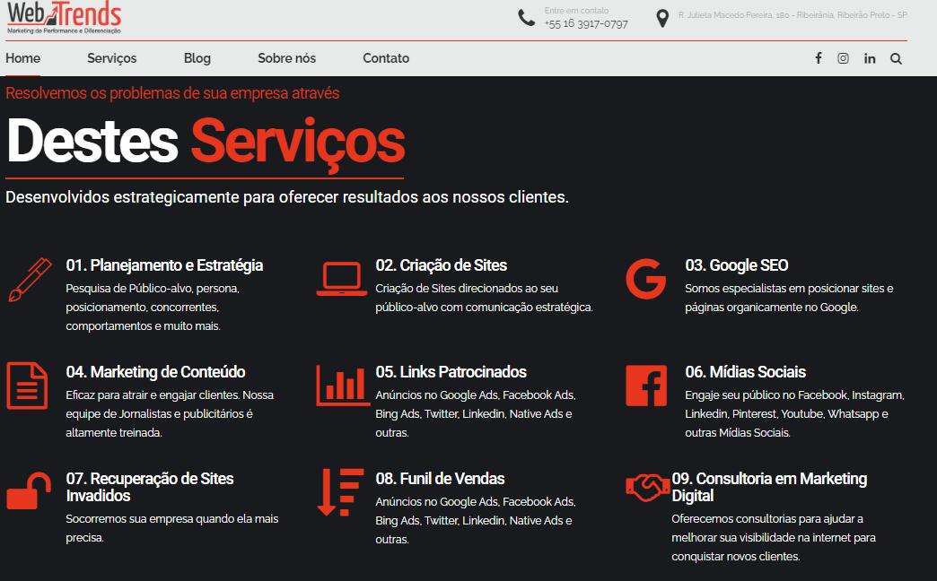 servicos webtrends