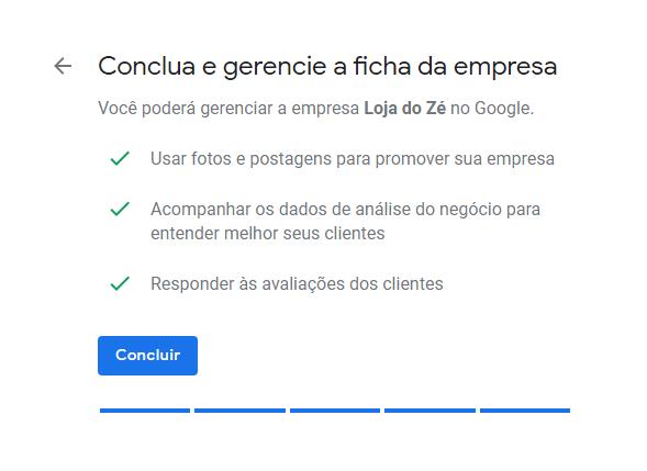 Conclua sua verificação do Google Meu Negócio